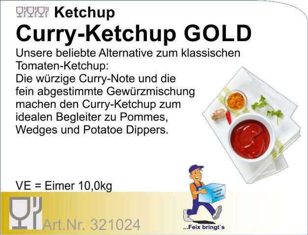 321024 - Tomatenketchup Curry Gold (10kg) We