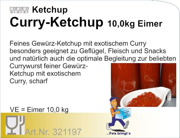 321197 - Tomatenketchup Curry (10kg) Grohage